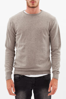 Pullover with round neck, Dove Grey, hi-res