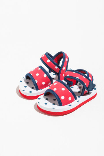 Sandali a pois con patch Mickey Mouse