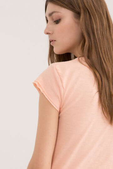100% cotton T-shirt with pockets, Salmon, hi-res