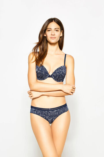 Push-up bra with all-over print