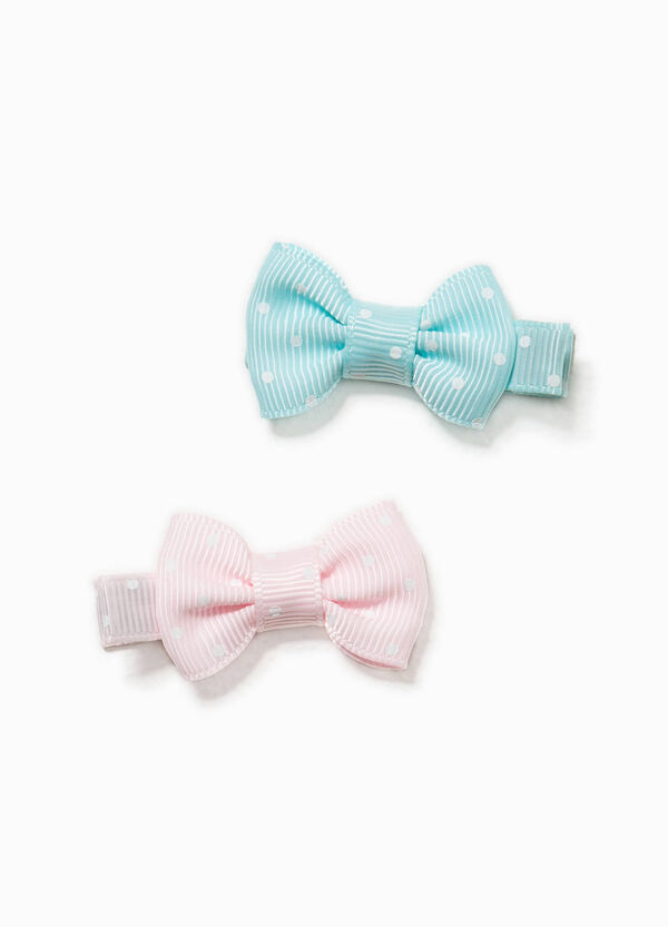 Two-pack polka dot hair clips | OVS