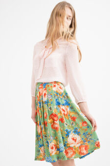 Printed midi skirt, Green, hi-res
