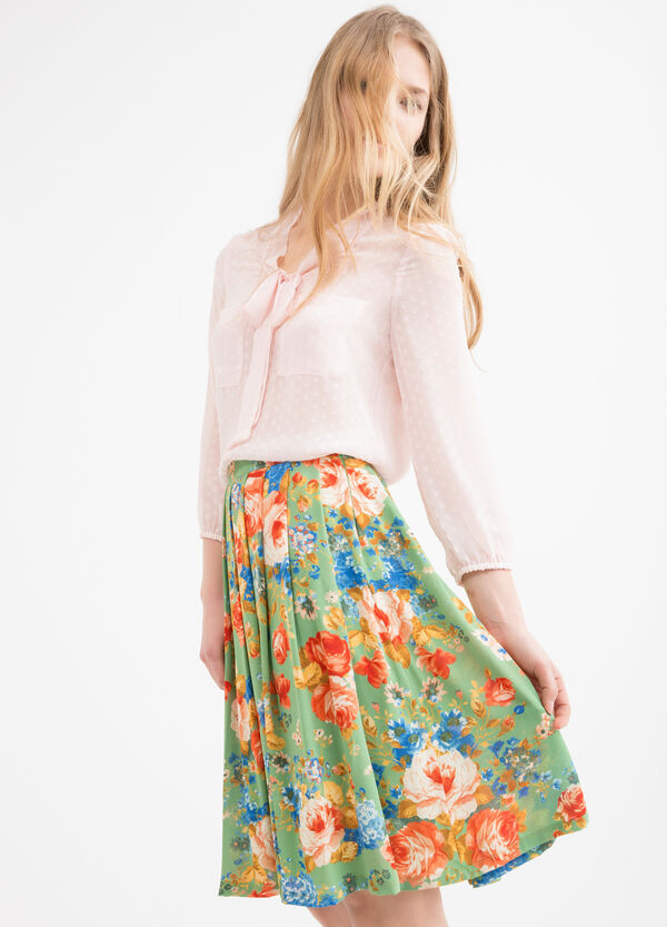 Printed midi skirt | OVS