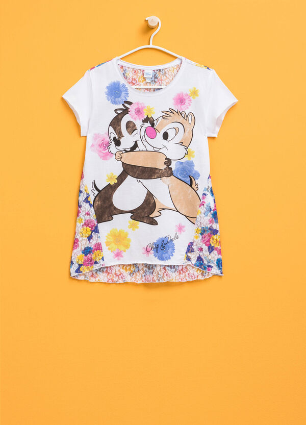 Chip 'n' Dale print T-shirt with lace | OVS