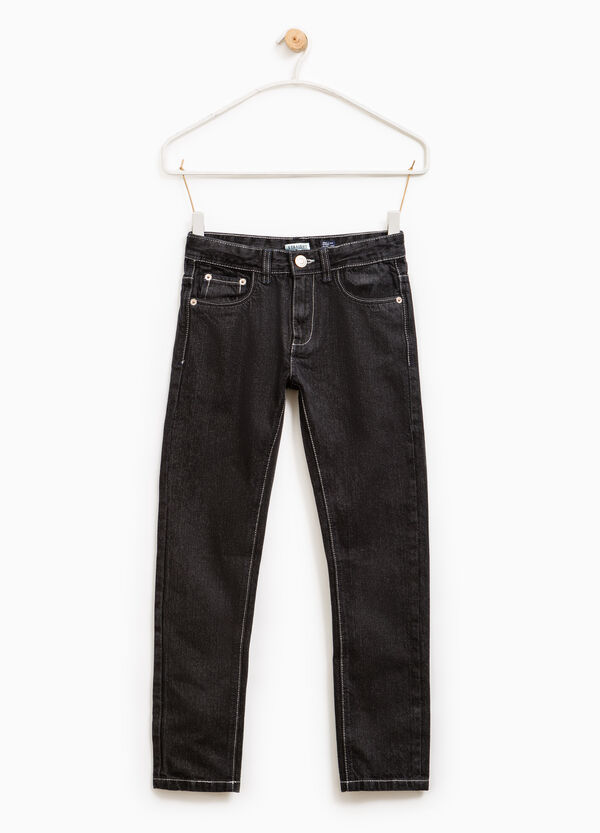 Solid colour straight-fit jeans   OVS