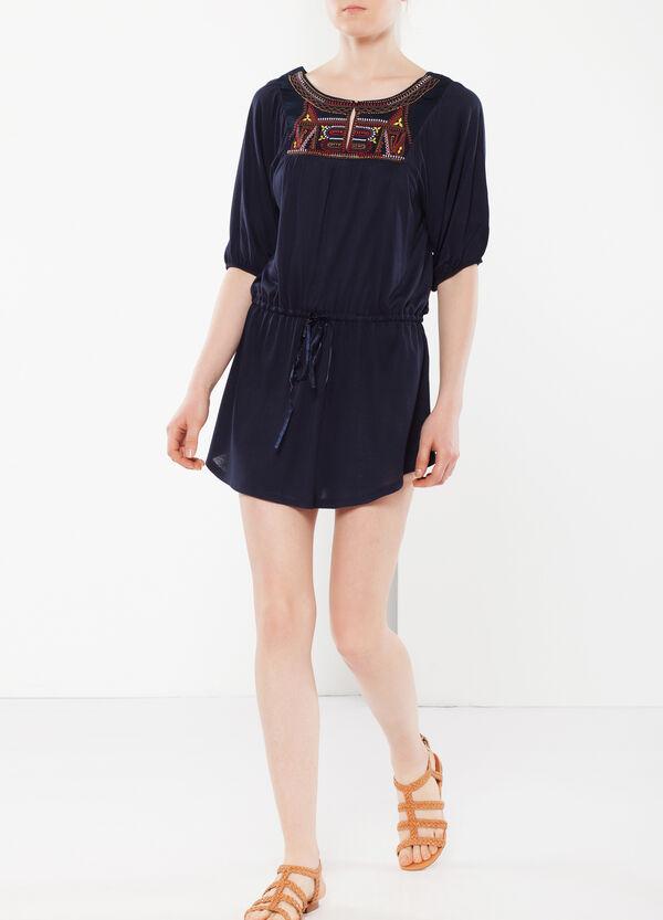 Long T-shirt with drawstring | OVS
