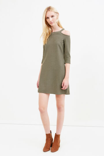 Striped viscose blend dress, Green, hi-res