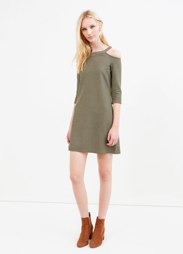 Striped viscose blend dress   OVS