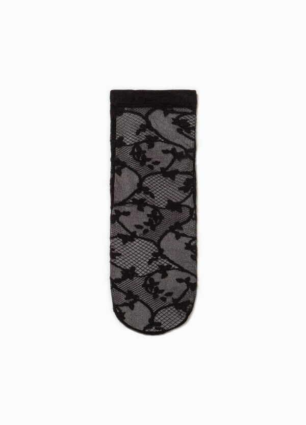 Embroidered lace knee-length socks | OVS