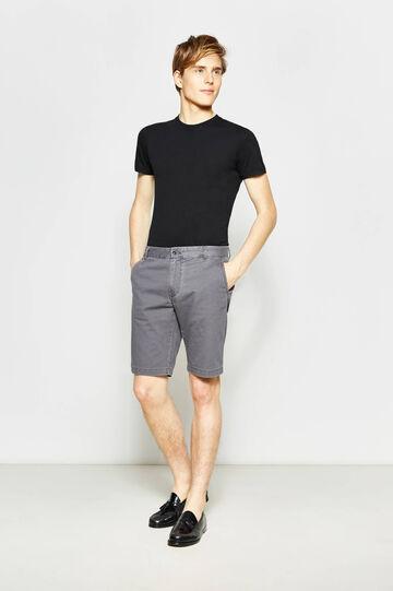 Regular-fit cotton chino Bermuda shorts