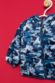 Down jacket with all-over print, Blue/Light Blue, hi-res