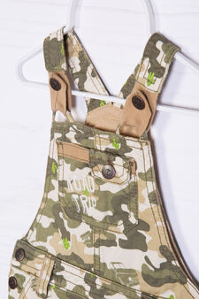 100% cotton camouflage dungarees, Army Green, hi-res