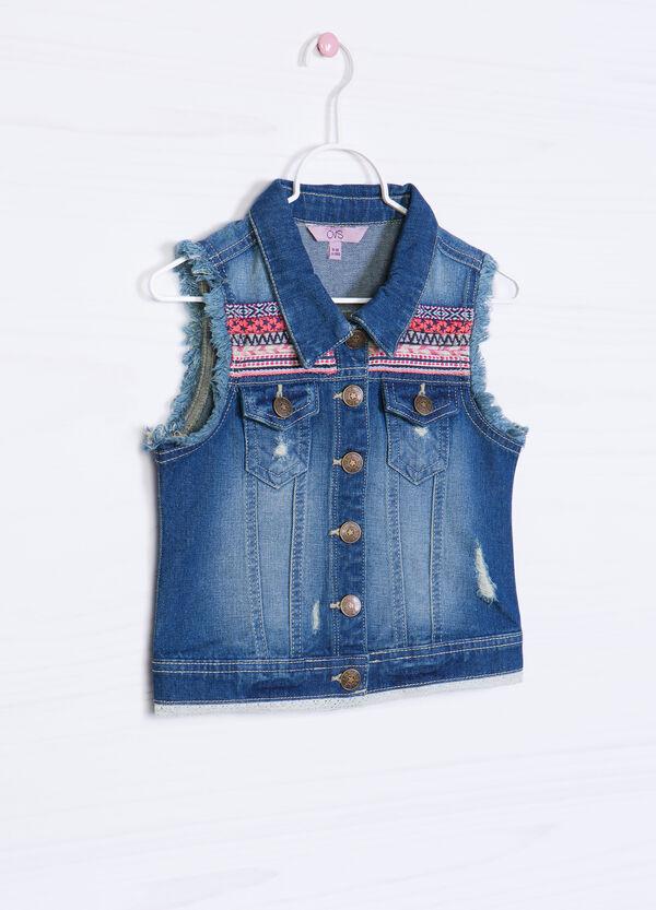 Gilet di jeans stretch sfrangiato | OVS