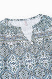 Printed cotton nightshirt, Cream White, hi-res