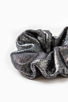 Hair tie with glitter, Navy Blue, hi-res