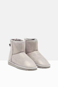 Ankle boots with faux fur inner, Light Grey, hi-res