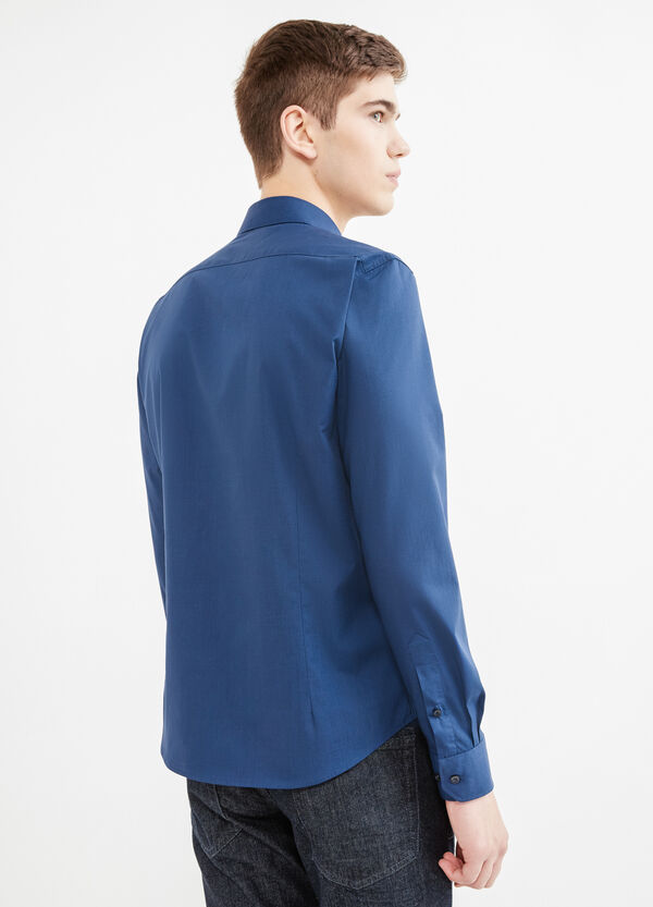 Solid colour casual cotton shirt   OVS