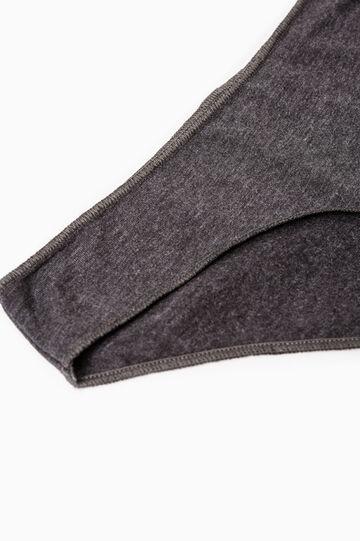 Solid colour stretch cotton briefs, Slate Grey, hi-res