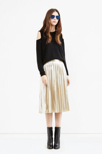 High-waisted midi skirt, Golden Yellow, hi-res