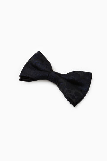 Damask pattern bow tie, Black, hi-res