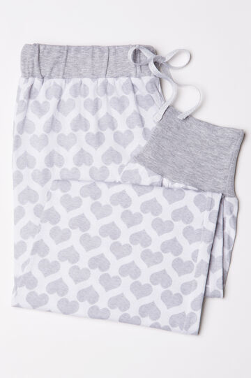 Cotton pyjama trousers with hearts