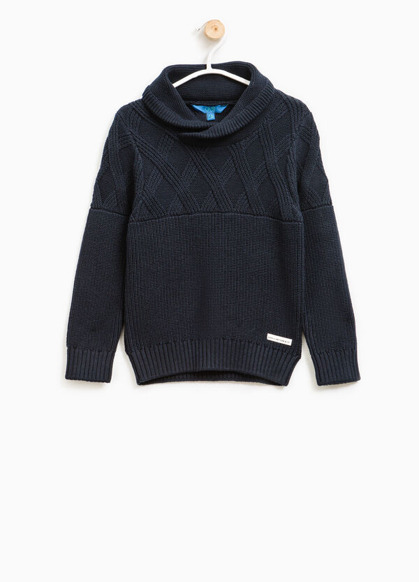 Knitted pullover with hood | OVS