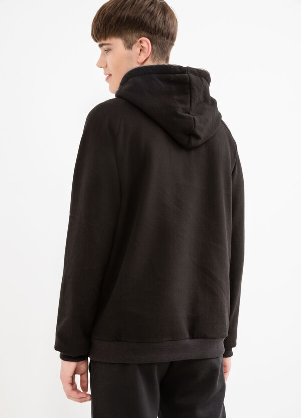 Cotton hoodie with zip | OVS