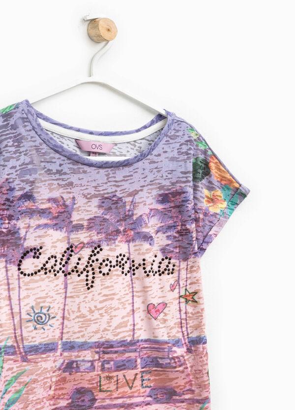 T-shirt fantasia con fondo finto doppio | OVS