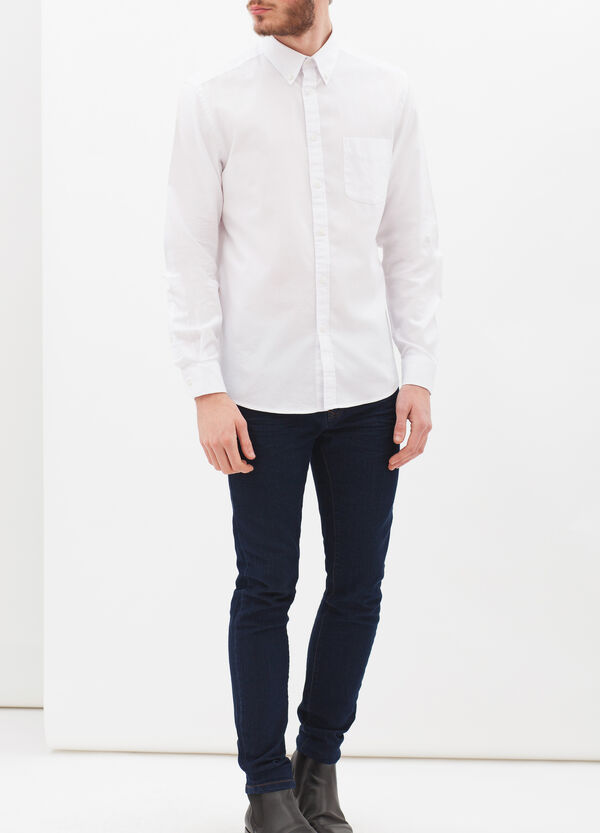 Plain shirt in regular fit | OVS