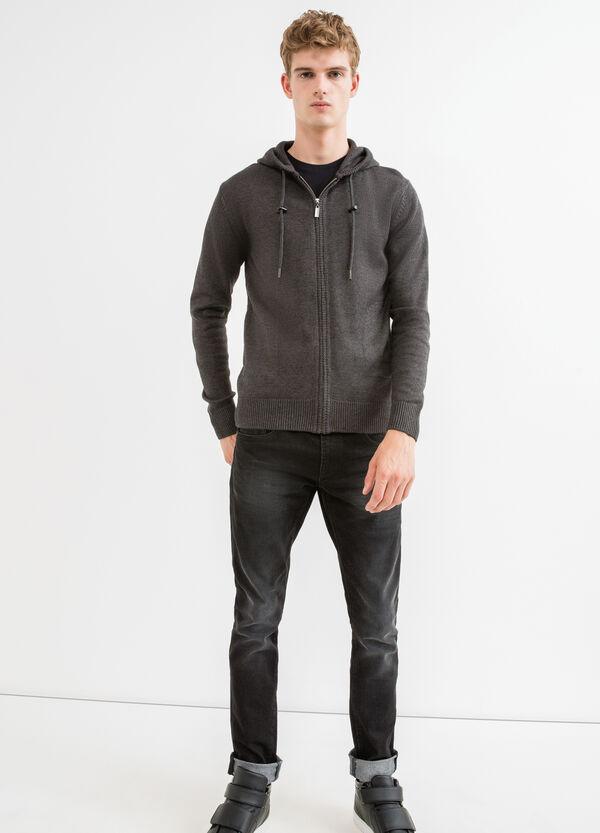 Cotton cardigan with hood | OVS