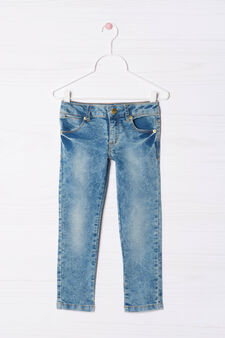 Misdyed stretch jeans, Light Wash, hi-res