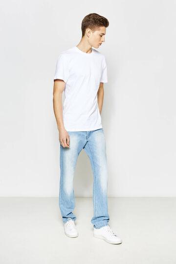 Regular-fit faded jeans, Light Wash, hi-res