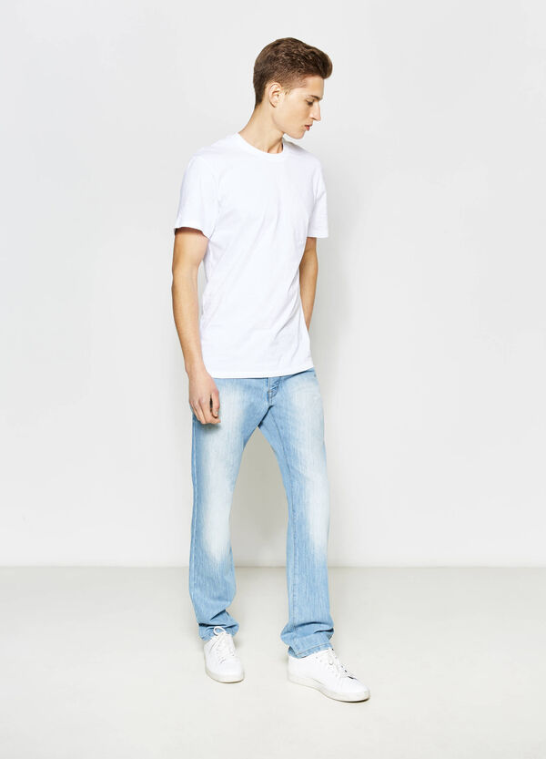 Regular-fit faded jeans | OVS