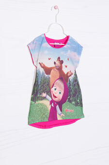 T-shirt with Masha and the Bear print, Multicolour, hi-res