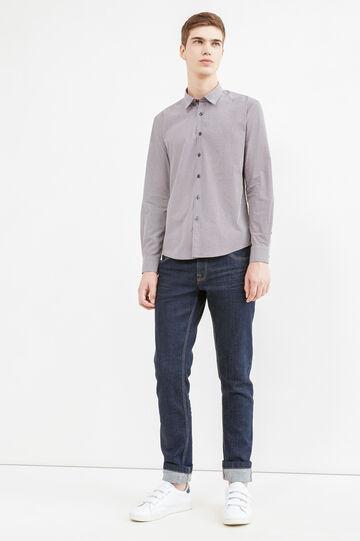Camicia casual cotone stampata, Rosso, hi-res