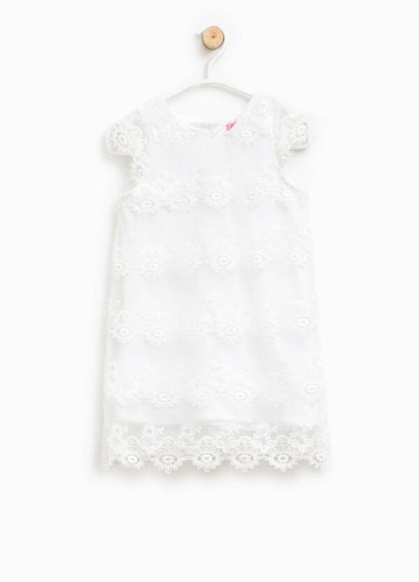 Lace dress with round neckline | OVS