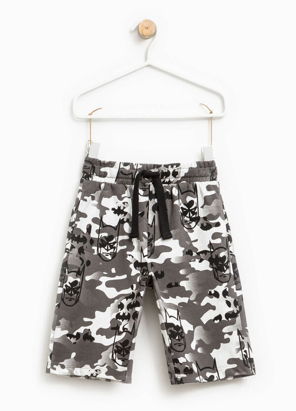 Camouflage and Batman patterned Bermuda shorts | OVS