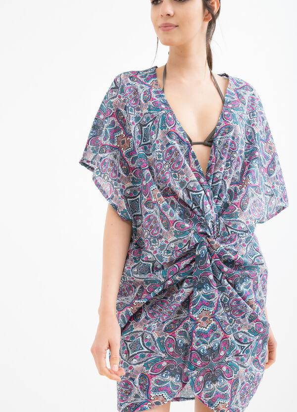 Patterned beach cover-up in 100% cotton | OVS
