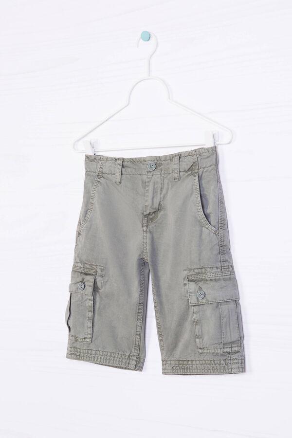 Bermuda cargo shorts in 100% cotton | OVS