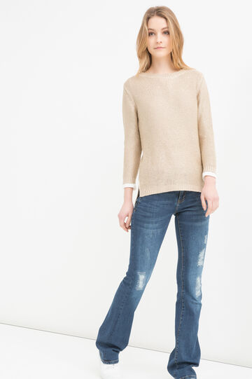 Sequinned knitted pullover