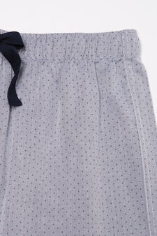 Pyjama trousers with drawstring, Grey, hi-res
