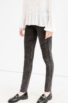 Misdyed effect skinny-fit stretch jeans, Black, hi-res