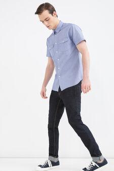 Camicia cotone a righe G&H, Blu, hi-res