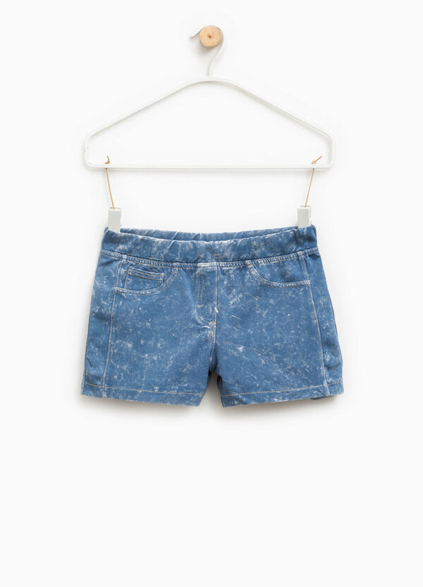 Mis-dyed-effect stretch shorts | OVS