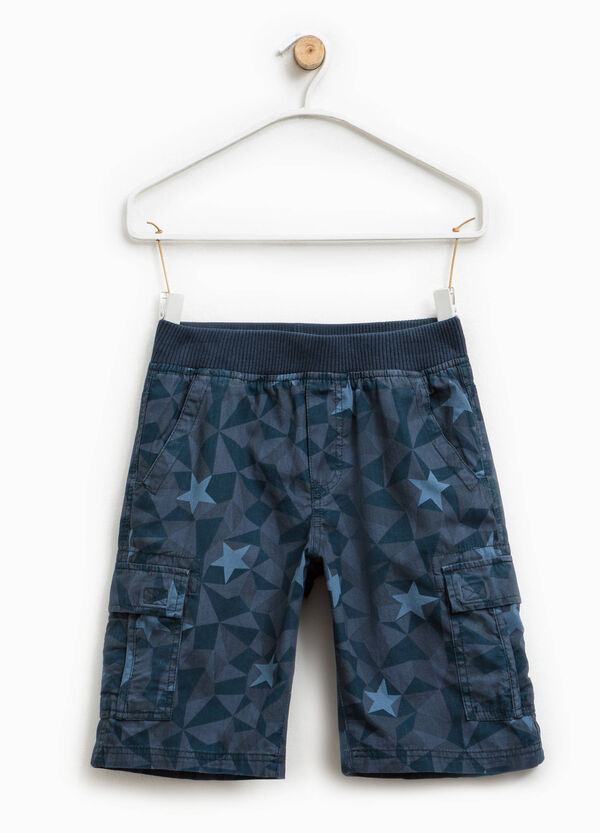 Bermuda cargo shorts with all-over print | OVS