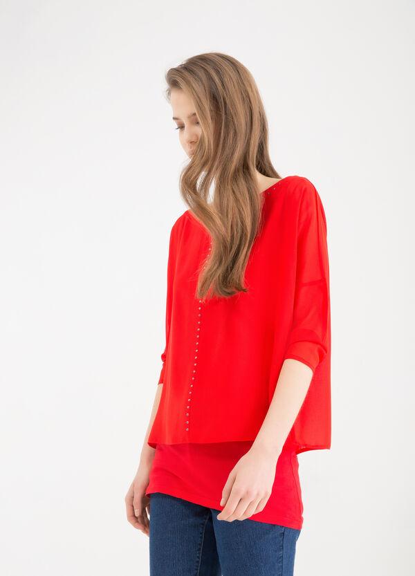 Blusa con strass | OVS