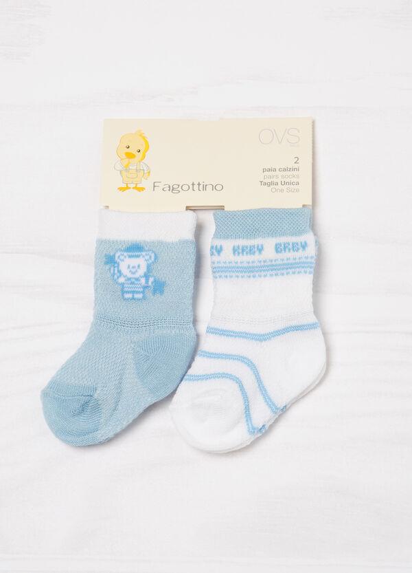 Set due paia di calze misto cotone | OVS