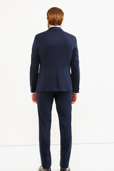 Custom-fit suit in viscose blend, Dark Blue, hi-res