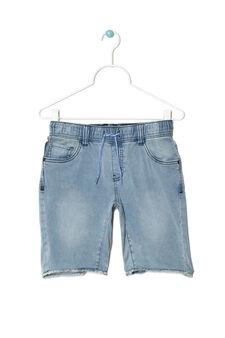 Bermuda jeans taglio vivo, Lavaggio chiaro, hi-res