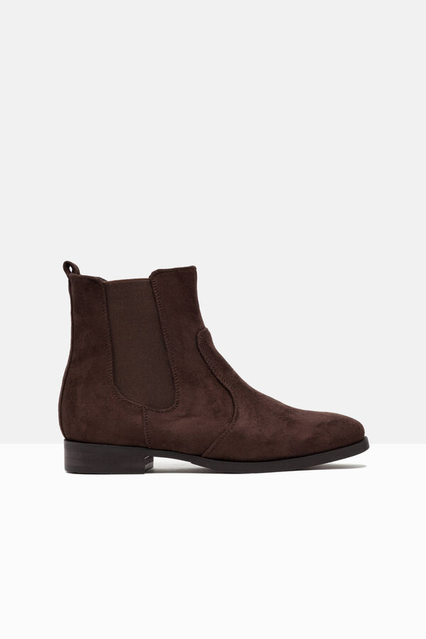 Suede-effect ankle boots. | OVS